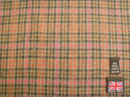 100% Wool Gun Club Check Fabric BZ13